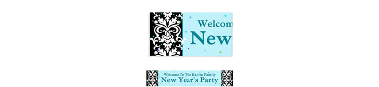 Custom Elegant New Year's Banner 6ft