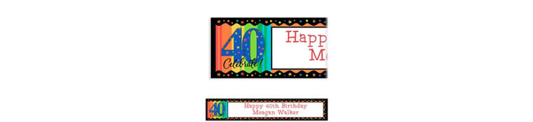 Custom A Year to Celebrate 40th Birthday Birthday Banner 6ft