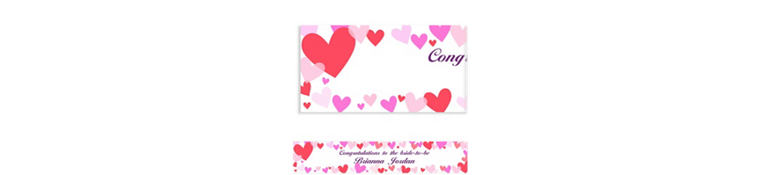 Hearts Custom Valentines Day Banner