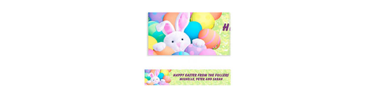 Custom Peekaboo Bunny Easter Banner 6ft