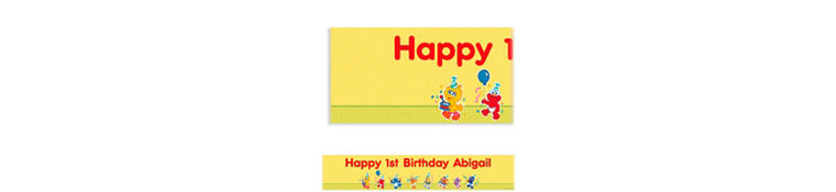 Custom Sesame Street 1st Birthday Banner 6ft