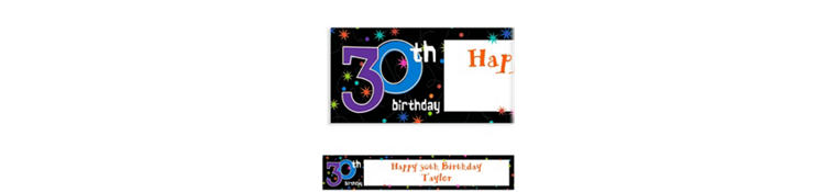 The Party Continues 30th Birthday Custom Banner 6ft