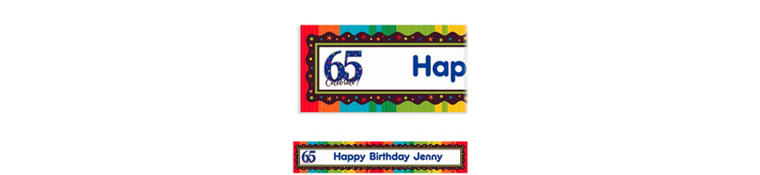 Custom A Year to Celebrate 65th Banner 6ft