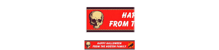 Custom Be Afraid Halloween Banner 6ft