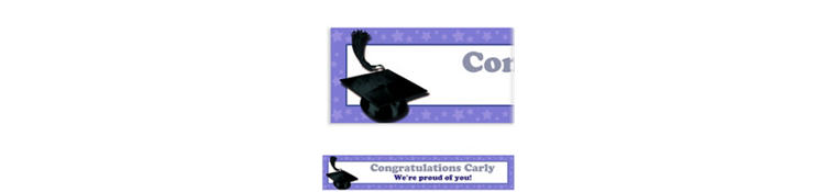 Custom Purple Congrats Grad Banner 6ft
