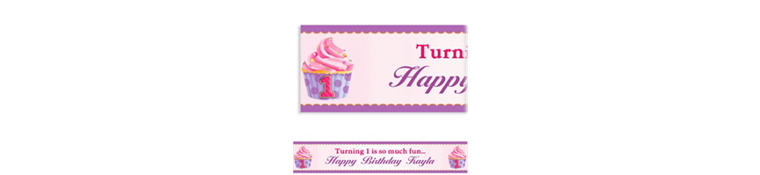 Custom 1st Birthday Pink Banner 6ft