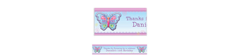 Fluttering Butterfly Custom Banner 6ft