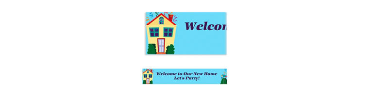 Housewarming Custom Banner 6ft
