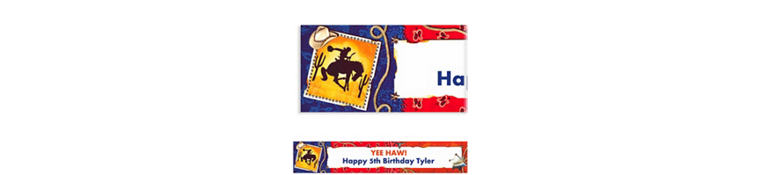 Custom Wild West Banner 6ft
