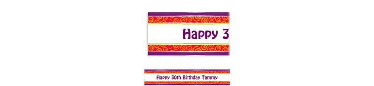 Birthday Cumpleanos Custom Banner 6ft