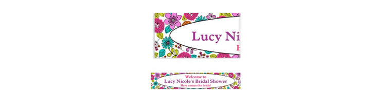 Custom Floral Chic Banner 6ft