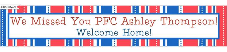 Custom American Summer Stripes Welcome Home Banner 6ft