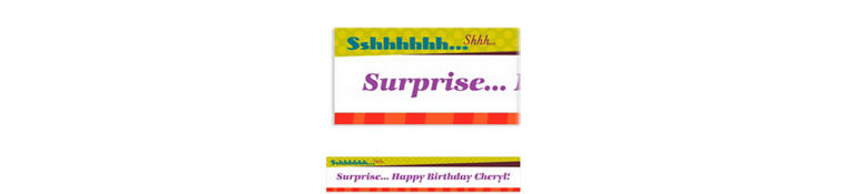 Custom Big Sshhh Surprise Party Banner 6ft