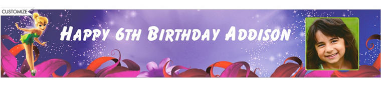 Magical Tink Custom Photo Banner 6ft