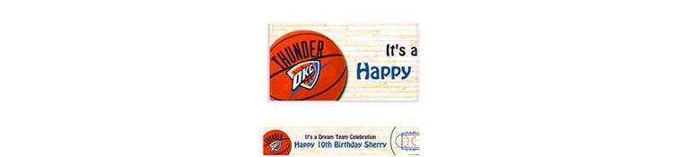 Custom Oklahoma City Thunder Banner 6ft