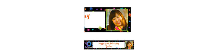 The Party Continues 30th Birthday Custom Photo Banner 6ft