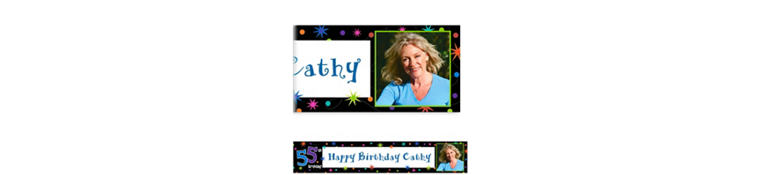 Custom The Party Continues 55th Photo Banner 6ft