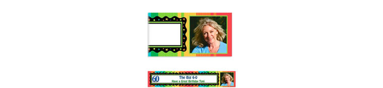 Custom A Year to Celebrate 60th Photo Banner 6ft