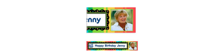 Custom A Year to Celebrate 65th Photo Banner 6ft