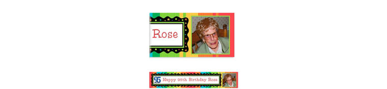 Custom A Year to Celebrate 95th Photo Banner 6ft