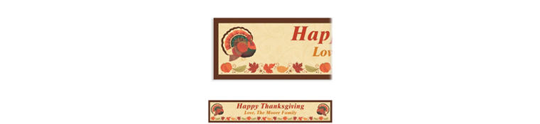 Custom Thanksgiving Holiday Banner 6ft