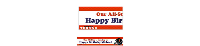 Houston Texans Custom Banner 6ft