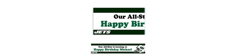 New York Jets Custom Banner 6ft