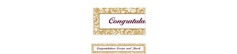 Custom Golden Wedding Banner 6ft