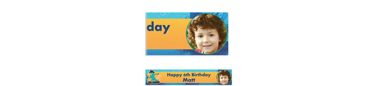 Phineas & Ferb Custom Photo Banner 6ft