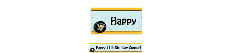 Custom Pittsburgh Penguins Banner 6ft