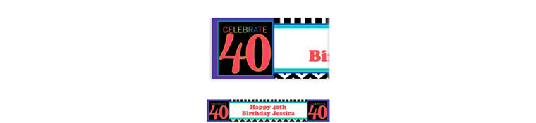 40th Celebration Custom Banner
