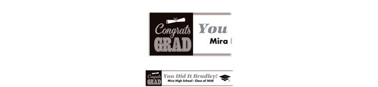 Custom Graduating Class Banner 6ft