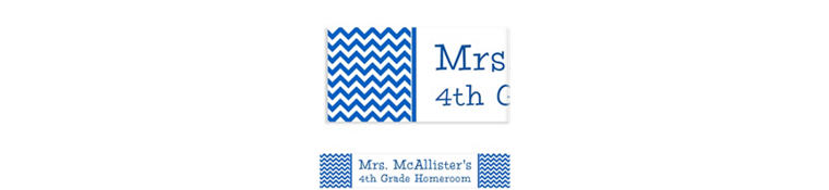 Custom Royal Blue Chevron Banner 6ft