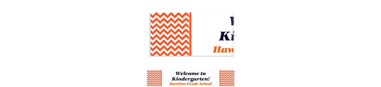Custom Orange Chevron Banner 6ft