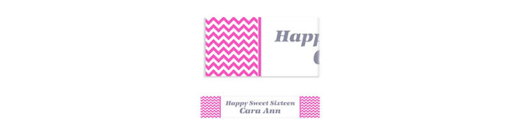 Custom Bright Pink Chevron Banner 6ft
