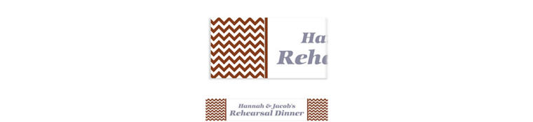 Custom Chocolate Brown Chevron Banner 6ft