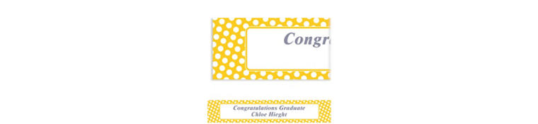 Custom Sunshine Yellow Polka Dot Banner 6ft