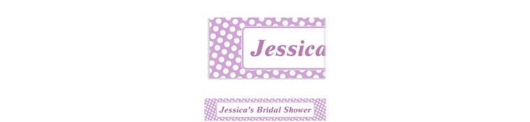 Custom Lavender Polka Dot Banner 6ft