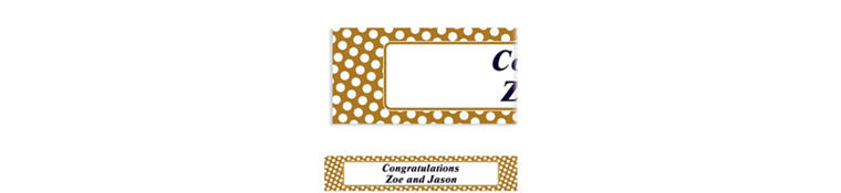 Custom Gold Polka Dot Banner 6ft