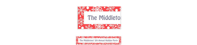Custom Winter Holiday Banner 6ft