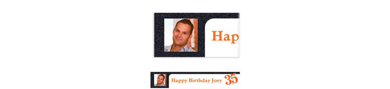 Custom Big Celebration 35 Photo Banner 6ft