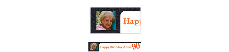 Custom Big Celebration 90 Photo Banner 6ft