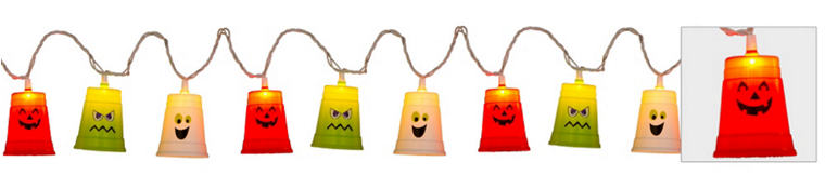 Friendly Halloween Cup String Lights