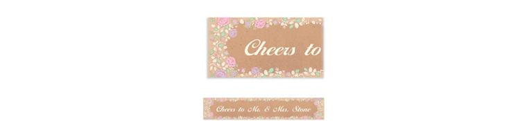 Custom Rustic Floral Wedding Banner