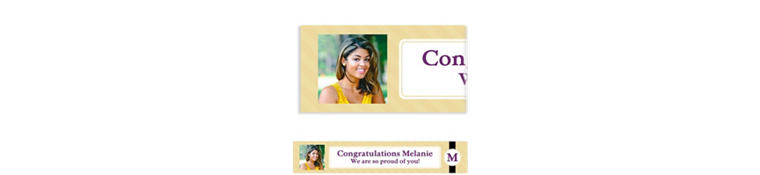 Custom Neutral Initial Graduation Photo Banner