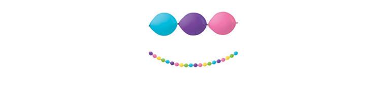 Multicolor Bright Mini Balloon Garland