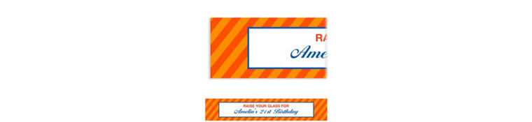 Custom Orange Generic Ticket Banner