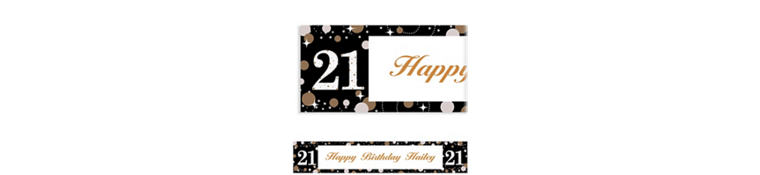 Custom Sparkling Celebration 21 Banner