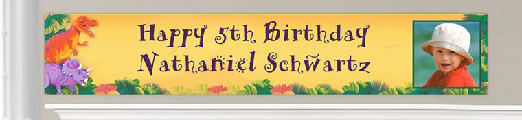 Custom Dinosaurs Birthday Banners