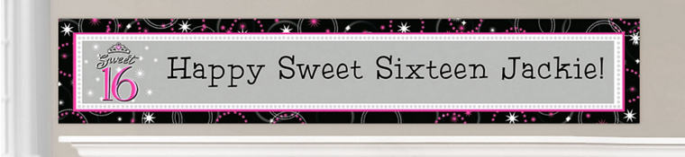 Custom Sweet 16 Banners